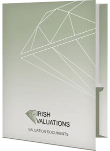 Each valuation comes in its own presentation folder for safe keeping